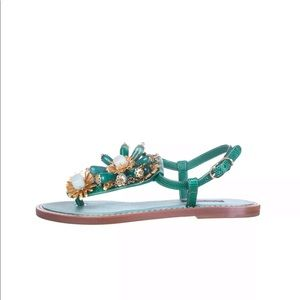 7e1588fe042e Dolce   Gabbana Shoes -  950 Dolce Gabbana Leather slingback thong sandals